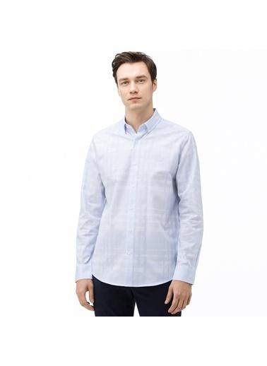 Lacoste Erkek Slim Fit Ekose Gömlek CH0029.29M Mavi